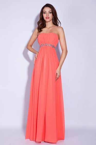 2015 Classic Alluring Empire Strapless Pleated Evening Dress