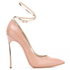 Chic / Beautiful Beige Evening Party Womens Shoes 2020 Ankle Strap 12 cm Stiletto Heels Pointed Toe Pumps