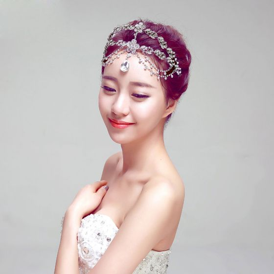 Fashion Temperament Bridal Headpiece Frontlet / Earring / Necklace Three-piece