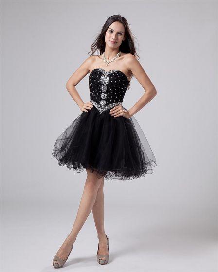 Tulle Drape Bead Sweetheart Thigh High Graduation Dresses