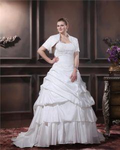 Geschichteten Rüschen Ein Schultergurt Gericht Große Größen Brautkleider Hochzeitskleid