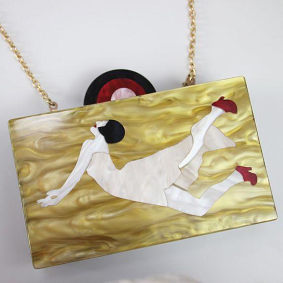 Encantador Amarillo Impresión de fiesta Fiesta Bolsas de embrague 2018