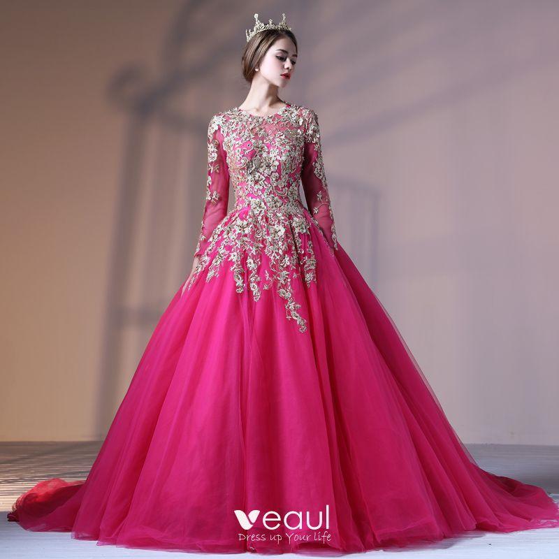 Chic / Beautiful Fuchsia Prom Dresses 201
