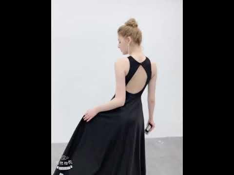 Sexy Zwarte Avondjurken 2019 A lijn Mouwloos Rhinestone Houder Ruglooze Lange Gelegenheid Jurken