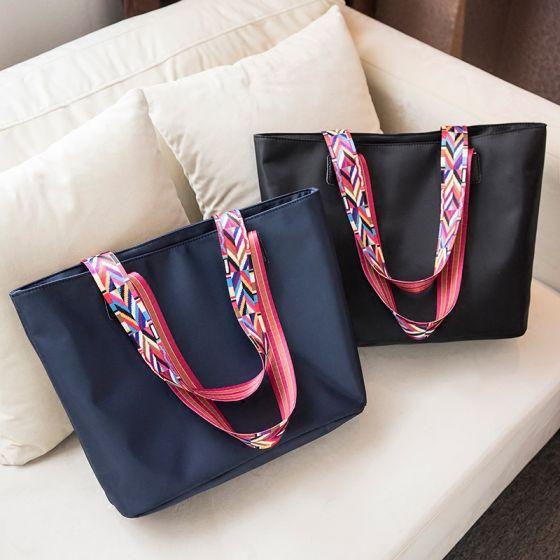 Mode Wasserdichte Segeltuch Tragetasche Einkaufstasche Schultertaschen 2021 Quadratische Damentaschen
