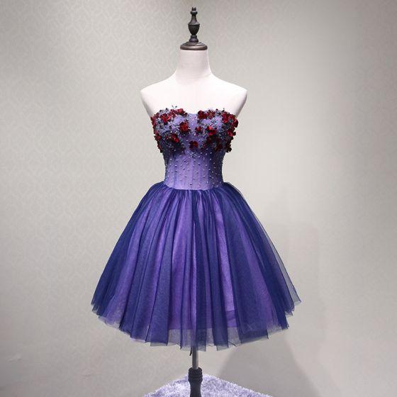 Purple Party Short Dresses