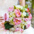 Gift Wrist Flower Silk Simulation Flower Peony Hydrangea Bridal Bouquets Wedding Holding Flowers