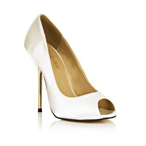 Modest / Simple Ivory Family Celebration Pumps 2020 11 cm Stiletto Heels Open / Peep Toe Pumps