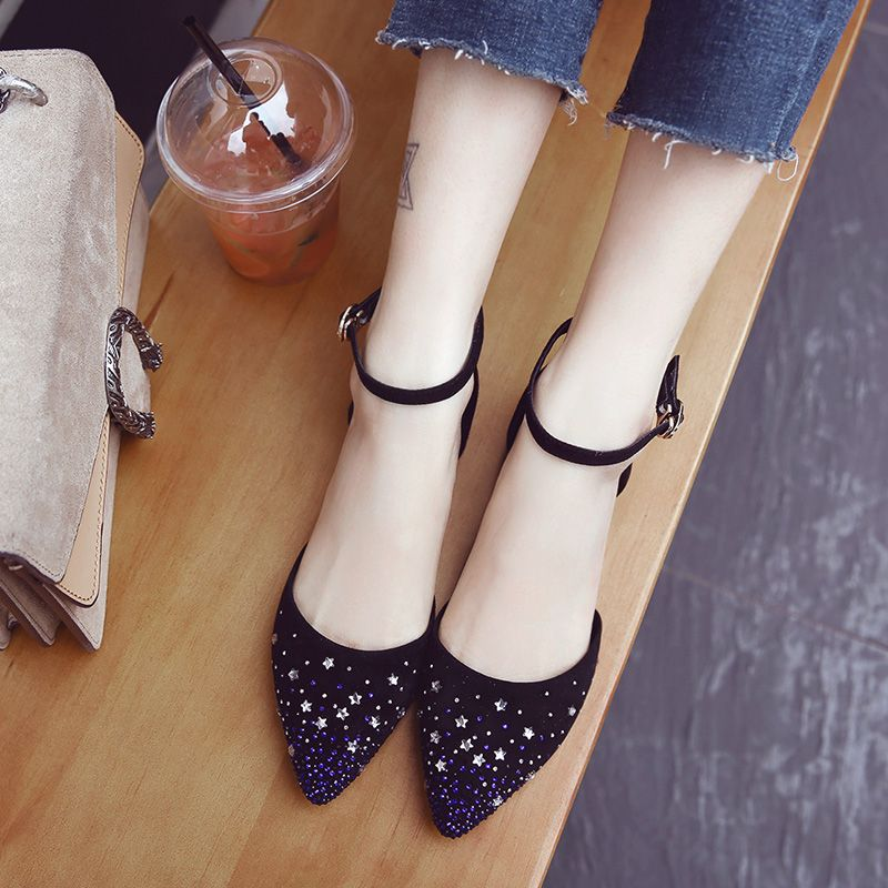 Chic / Beautiful Outdoor / Garden Womens Shoes 2017 Leather Rhinestone Platform Pointed Toe Sandals