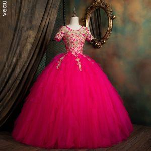 robe longue fushia