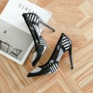 Chic / Beautiful 2017 10 cm / 4 inch Black Blushing Pink Green Navy Blue Red White Casual Cocktail Party Evening Party Outdoor / Garden Leather Green Pierced High Heels Stiletto Heels Pumps