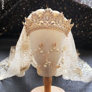 luxury gold tiara