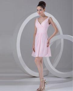 Mini Szyfon V Szyi Tanie Sukienki Koktajlowe Sukienki Wizytowe