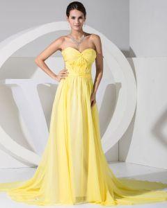 Mode Chiffong Charmeuse Siden Rufsar Domstol Tag Alskling Aftonklänning