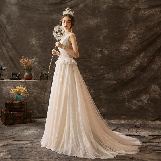 luxury-gorgeous-champagne-glitter-wedding-dresses -2019-a- b8f6910488ed