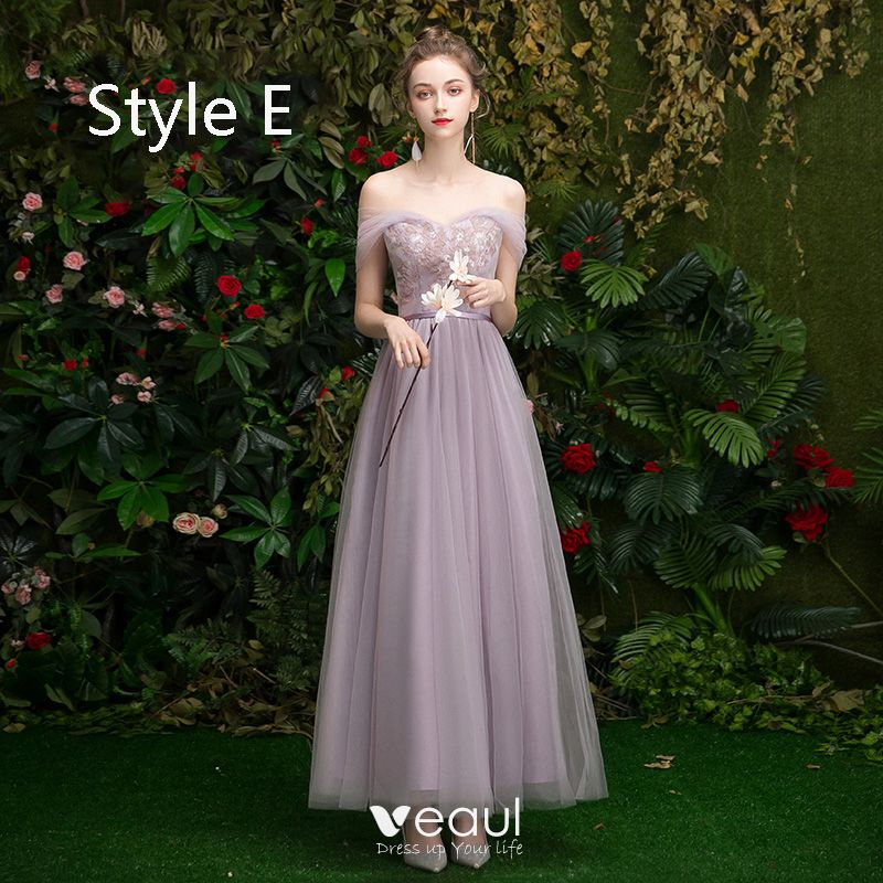 Lorie Lace Wedding Dresses 2019 Appliqued With Lace A Line: Affordable Lavender Bridesmaid Dresses 2019 A-Line