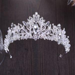 Sparkly Silver Tiara 2018 Metal Rhinestone Beading Crystal Accessories