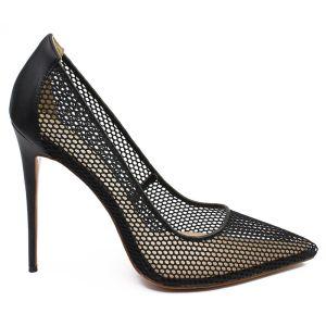 Fashion Black Pierced Pumps 2020 Rave Club 12 cm Stiletto Heels Pointed Toe Pumps