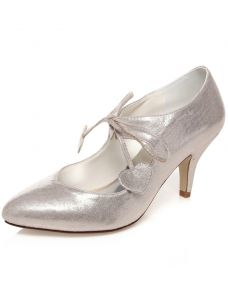Sparkly Wedding Shoes Stiletto Heels Pumps Champagne Bridal Shoes With Glitter