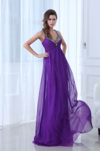 2015 Popular Beading Crystals Draped Backless Straps Long Evening Dresses