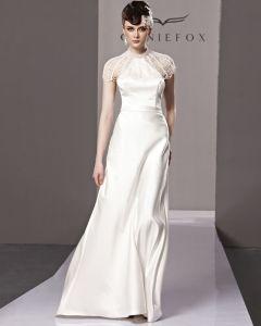 Neckholder Strass Einem Seitlichen Reißverschluss Sleeveless rückenfrei Bodenlange Charmeuse Frau Abendkleid