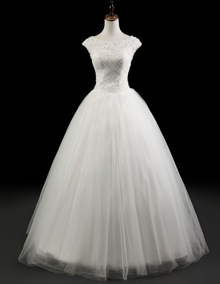 2015 Charming White Bridal Gown Empire Lace Wedding Dress