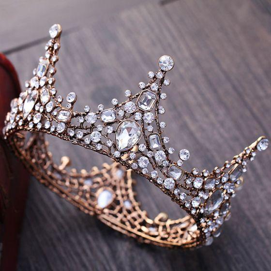 Vintage / Retro Silver Rhinestone Tiara 2018 Metal Wedding Accessories