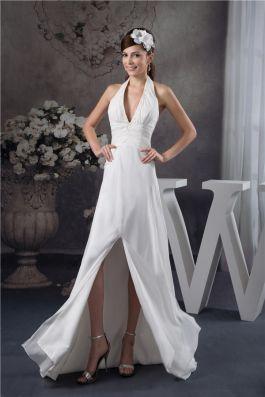 Charmante a ligne halter col v perles ceinture robe longue for Concepteurs de robe de mariage australien en ligne