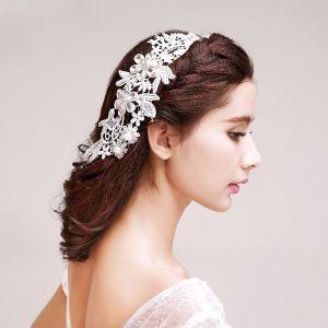 Petales Strass Perle Nuptiale Coiffure / Fleur Tete / Accessoires De Cheveux De Mariage / Bijoux De Mariage