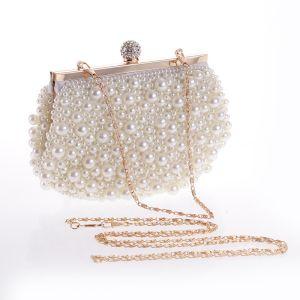 Schöne Ivory / Creme Perle Hochzeit Clutch Tasche 2020