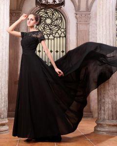 Juwel Rüsche Chiffon Bodenlangen Abendkleid