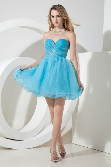 2015 Fashion Sweetheart Zipper Strapless Cocktail Dress