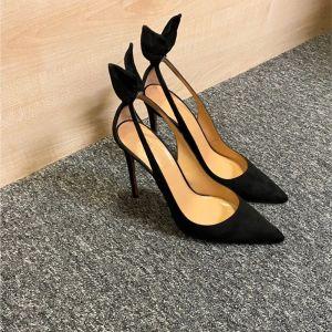 Moda Negro Casual Sandalias De Mujer 2020 10 cm Stilettos / Tacones De Aguja Punta Estrecha Sandalias