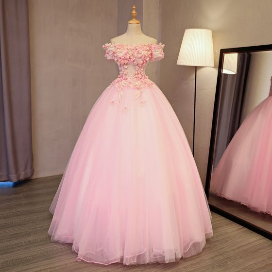 Lovely Pearl Pink Prom Dresses 2017