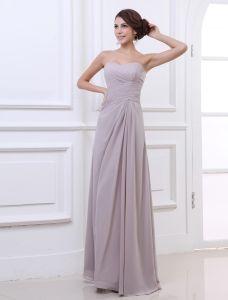 Sweetheart Etage Longueur Plisse Robe De Fete De Soirée En Mousseline De Soie Femme