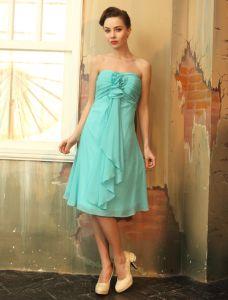 2015 Sweetheart Ruffles Chiffon Graduation Dresses