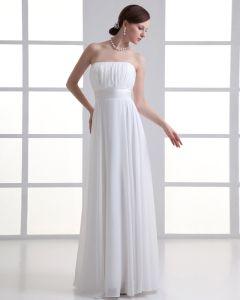 Chiffon Rüschen Strapless Plissiert Reich Hochzeitskleid