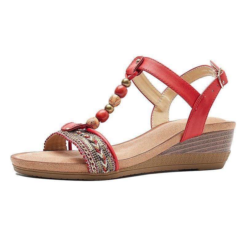 Vintage French Beach Summer Wendge Shoes Size uk 3