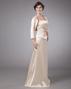 Portrait Bodenlange Elastische Butyl Nähen Perlen Plissiert Besondere Gäste Kleider