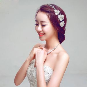 Fashion Pearl The Bridal Headpieces/ Earring / Necklace Three-piece
