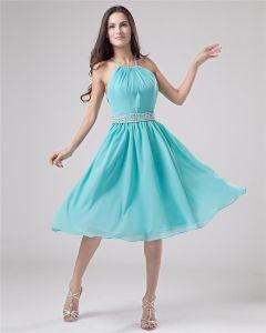 Klassiska Grimma Kna-langd Chiffong Festklänning Festklänningar