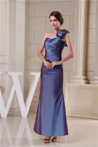 2015 Elegante Mermaid One Shoulder Rüschen Falten Abendkleid