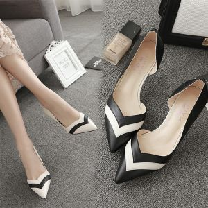 Chic / Beautiful Black Casual Womens Shoes 2019 7 cm Stiletto Heels Pointed Toe High Heels
