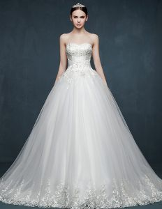 2015 Autumn Or Winter Luxury Noble Bridal Trailing Floor-length Wedding Dress