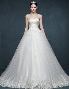 2015 Autumn Or Winter Luxury Noble Bridal Trailing Floor-length Wedding Dress