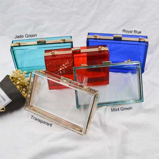 Transparent Acrylic Square Clutch Bags 2021