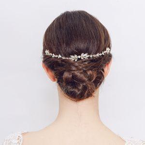 Elegant Gold Hair Comb Wedding Headpieces 2020 Metal Rhinestone Bridal Hair Accessories