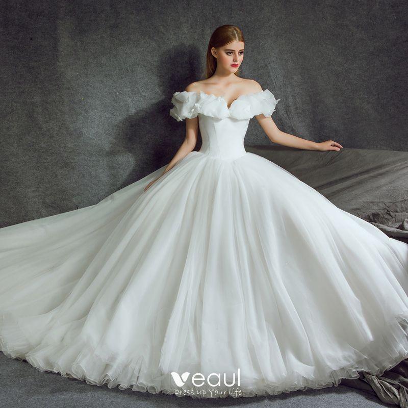 Cinderella Style Wedding Gowns: Stunning Cinderella Wedding Dresses 2017 A-Line / Princess