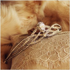 Vintage Silver Rhinestone Tiara 2017 Beading Metal Bridal Jewelry Tiara