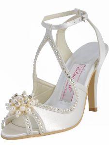 Ete De Nouvelles Chaussures De Mariage A La Main De Perles Chaussures Beiges